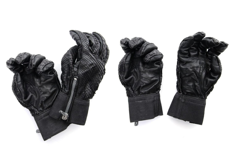 D.HYGEN Python×Horse leather glove New-002