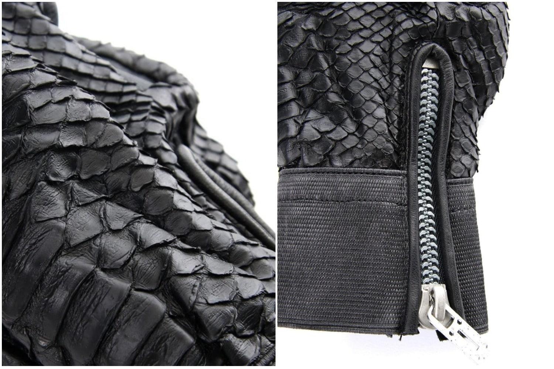 D.HYGEN Python×Horse leather glove New-003