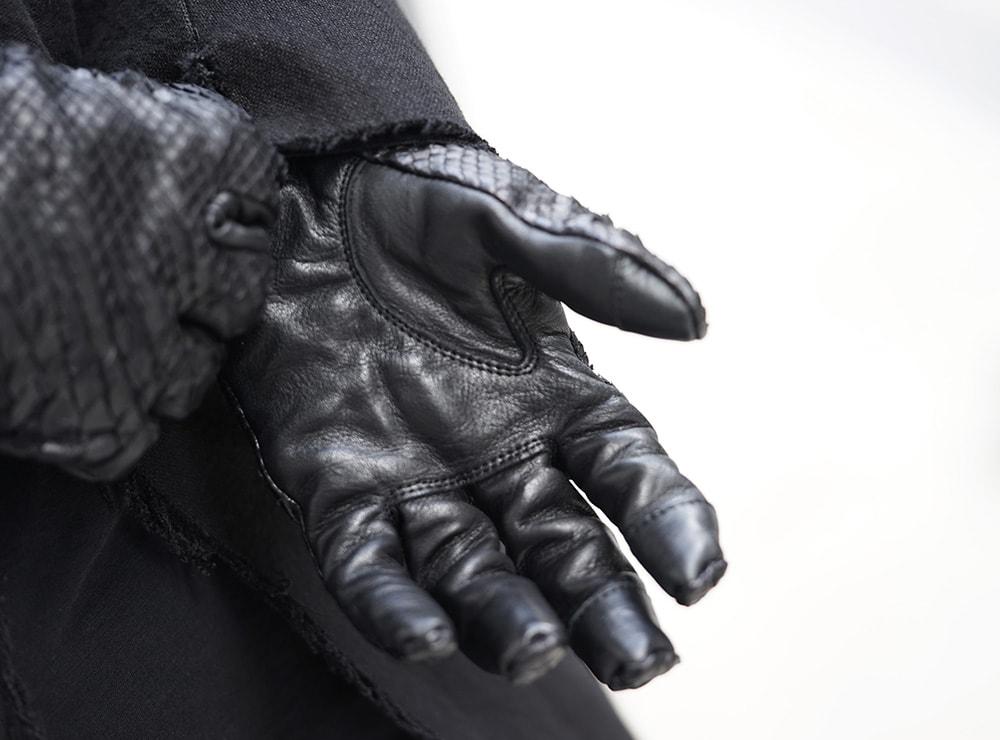 D.HYGEN Python×Horse leather glove New-004