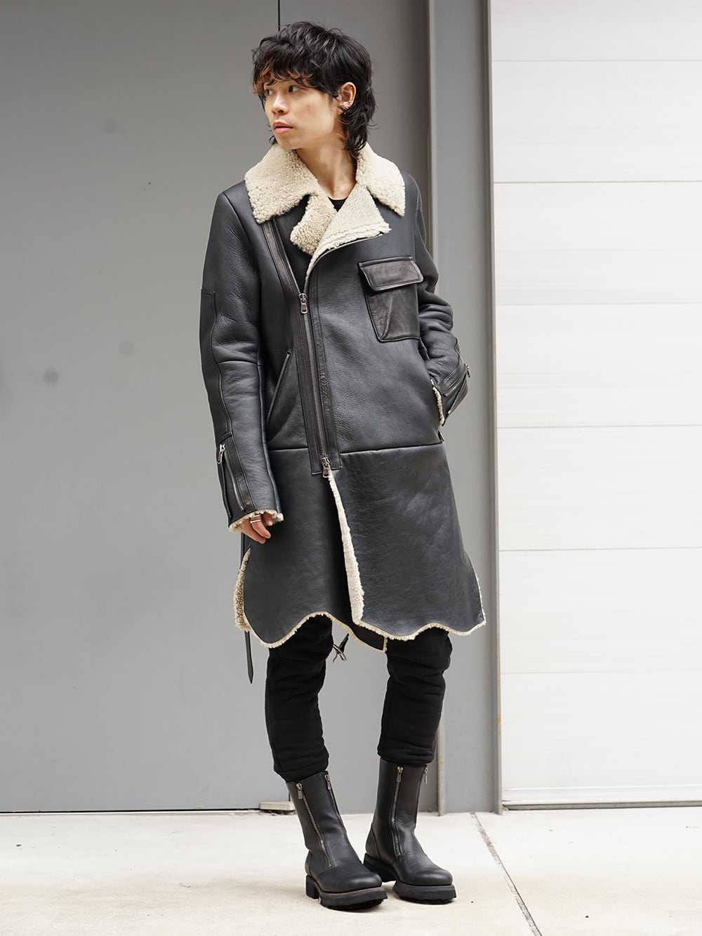 The Viridi-anne Mouton Coat 18-19AW Style