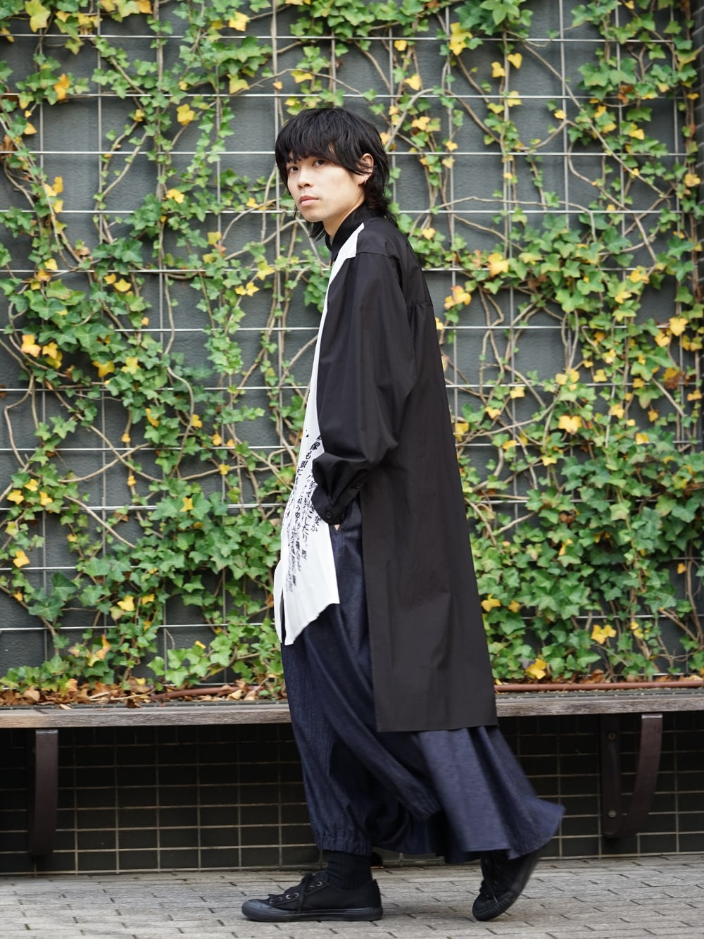 Yohji Yamamoto 19SS Message Print Staff Shirt style 03