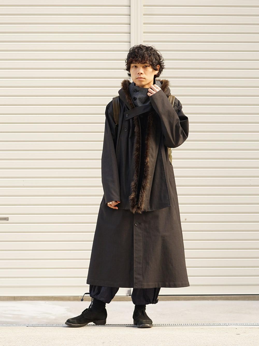 Yohji Yamamoto High-necked leather jacket Style 01