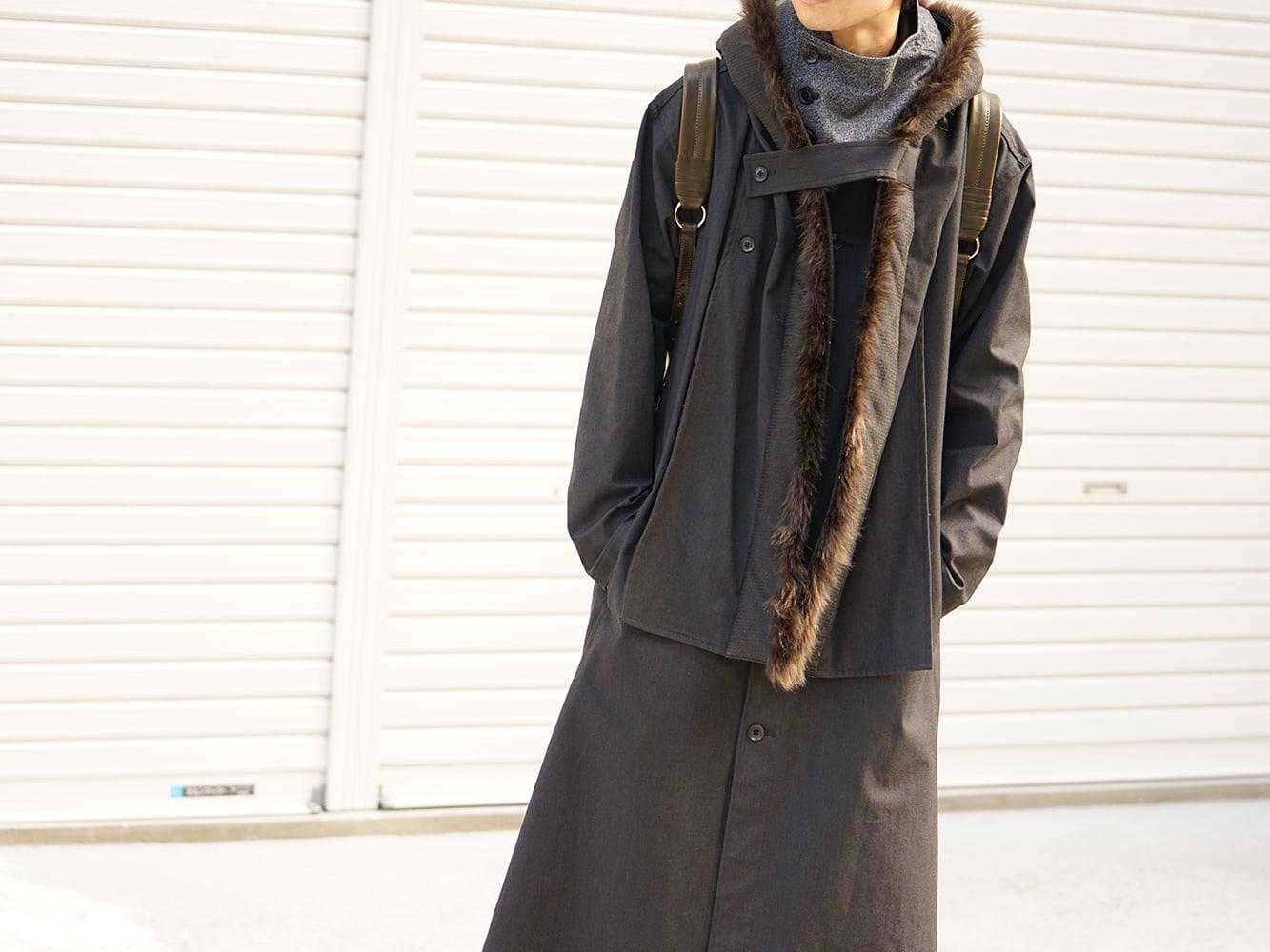 Yohji Yamamoto High-necked leather jacket Style 04