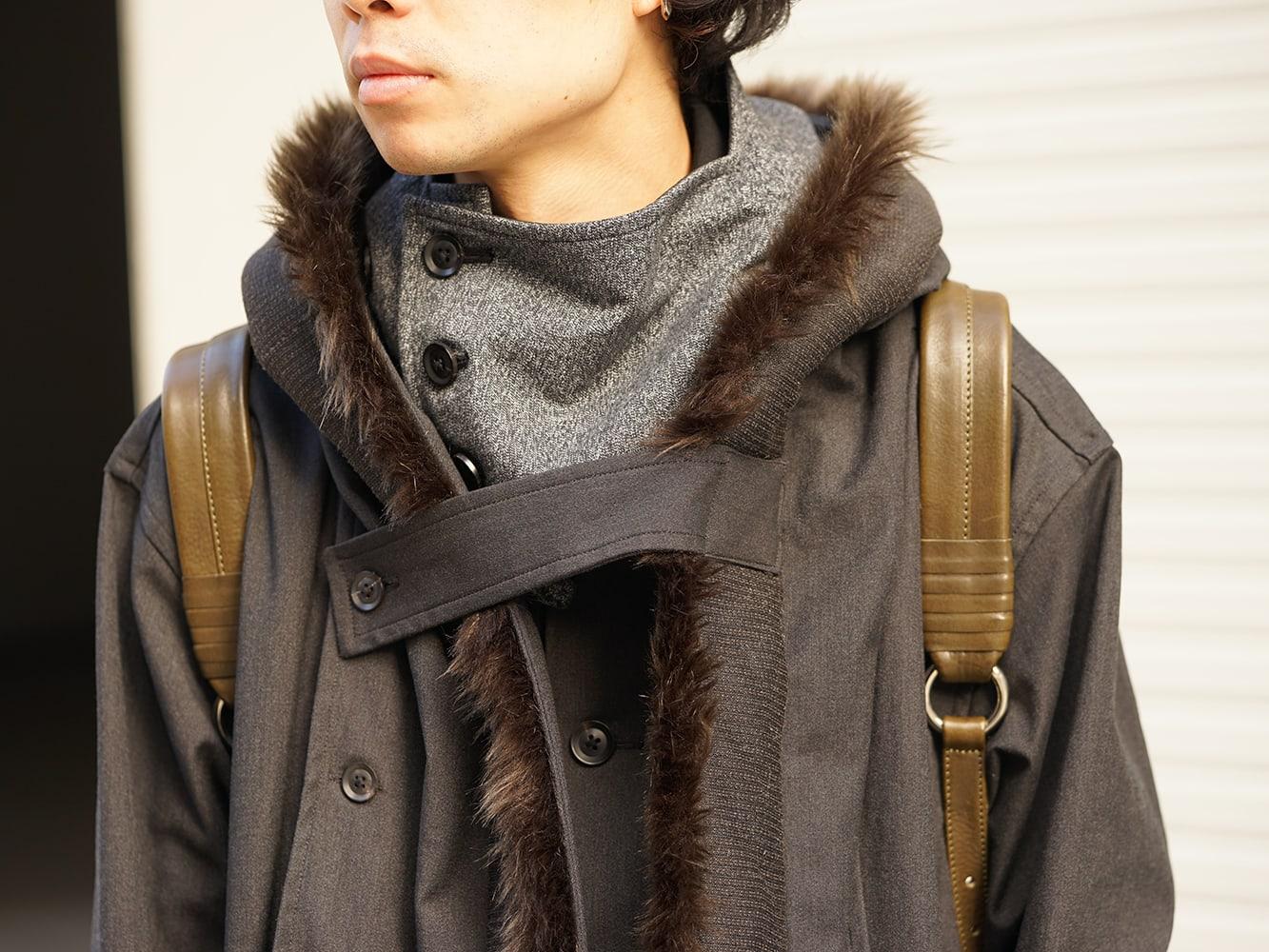 Yohji Yamamoto High-necked leather jacket Style 05