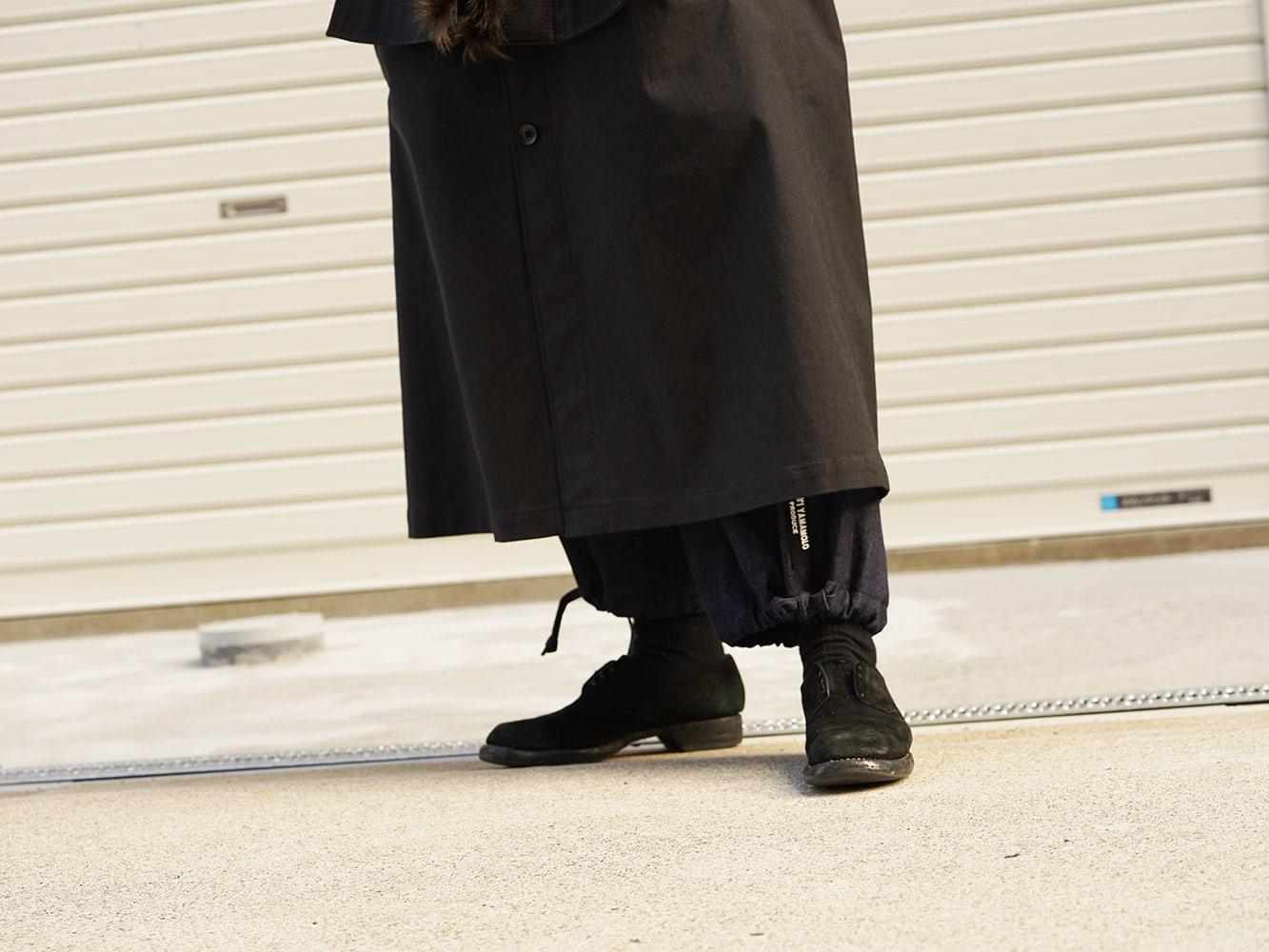 Yohji Yamamoto High-necked leather jacket Style 06