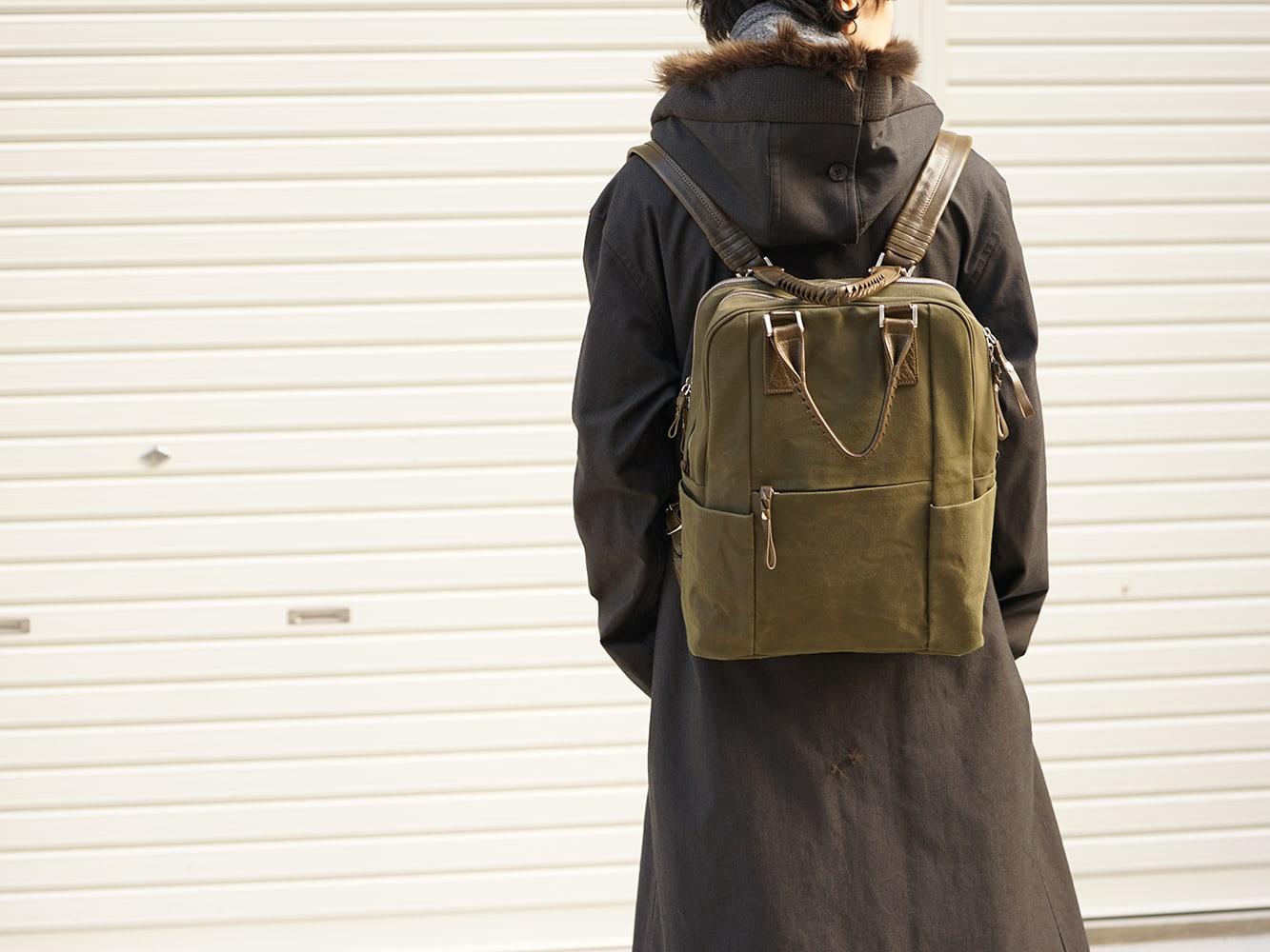 Yohji Yamamoto High-necked leather jacket Style 08