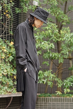 Yohji Yamamoto SS18 All Black Silk Material Style