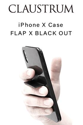 CLAUSTRUM iPhoneX Case FLAP X - BLACK OUT New Arrivals