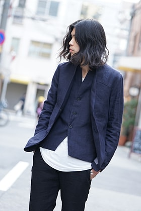 hannibal SS18 Navy Linen Jacket and Vest Style