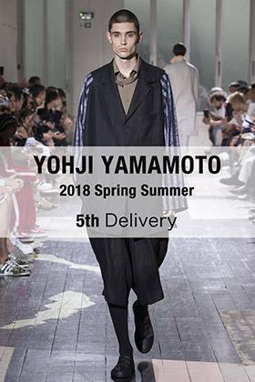 Yohji yamamoto 2018SS 5th Delivery