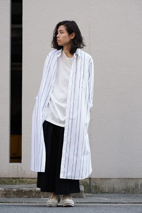 GROUND Y x Stripe Long Shirt Dress Style