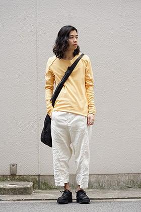 individual sentiments Nelfe Orange Long Sleeve T-shirt Style