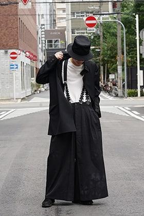 Yohji Yamamoto 18AW Suspender Pants Style