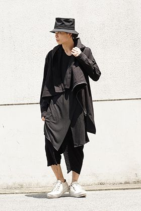 JULIUS 18Pre Fall Wrapping Hooded Coat Style