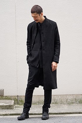 DEVOA 18-19AW Camel Linen Coat Style