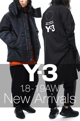 Y-3 18-19AW Collection 5 Items New Arrival!