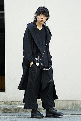 B Yohji Yamamoto Zip Design Coat and Pants Style