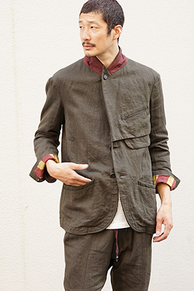 ZIGGY CHEN 18AW Khaki Suit Style