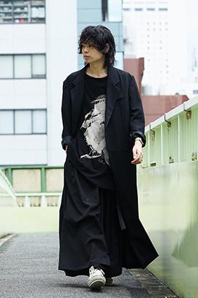 Yohji Yamamoto 18AW Long Jacket Wrinkled Gabardine Style
