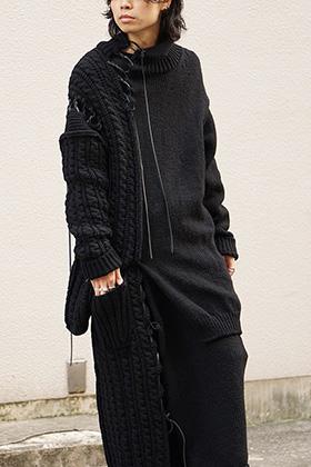 Yohji Yamamoto 18AW Knit Top and Skirt Style