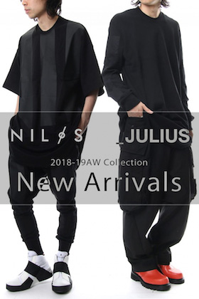JULIUS & Nilos 18AW  New Arrivals!