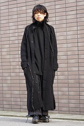 Yohji Yamamoto 18AW Embroidery Switching Coat Style