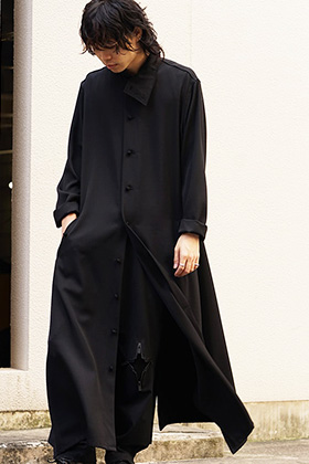 Yohji Yamamoto 18AW N-Stand hem slit long dress shirt Style