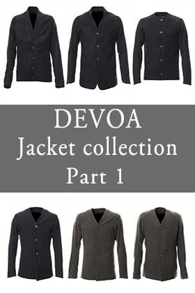 DEVOA 18-19AW Jacket Collection Part 1
