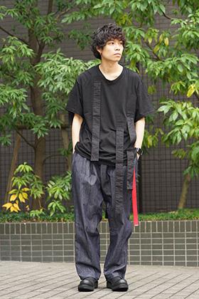 B Yohji Yamamoto 19SS Hang loop stop T-shirts Style