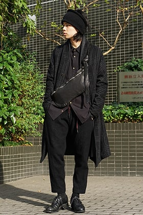individual sentiments 18AW Grid Pattern Jaquard Wool Beaver Finished Coat Style