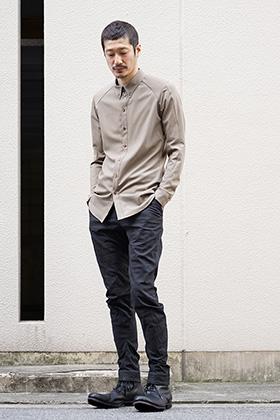 DEVOA 19SS Shirt Wool Stretch x Crazy Jacquard Style
