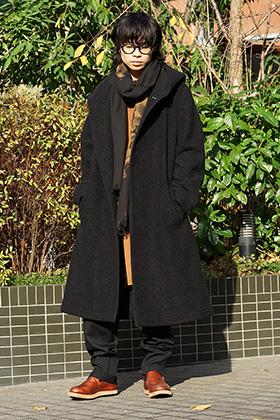 Yohji Yamamoto 2tone color Winter Style