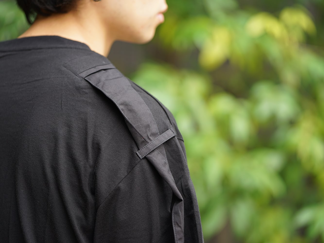 B Yohji Yamamoto 19SS Hang loop stop T-shirts Style 06