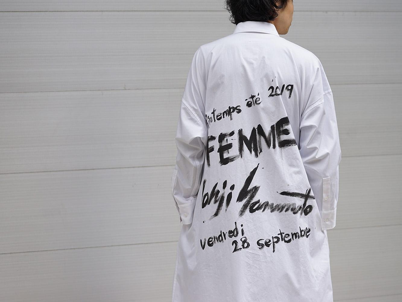 B Yohji Yamamoto 19SS Art Long shirts Style