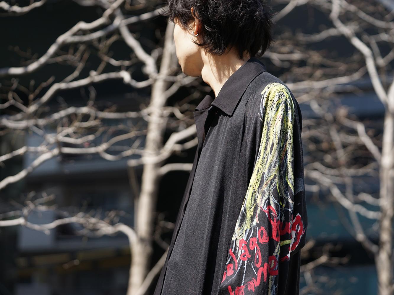 B Yohji Yamamoto 19SS BLACK SCANDAL Print Item Style-009