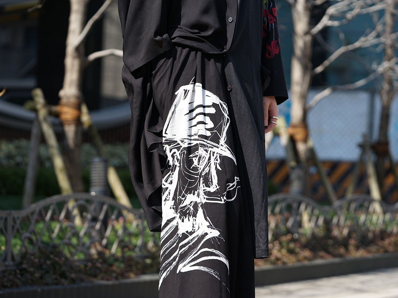 B Yohji Yamamoto 19SS BLACK SCANDAL Print Item Style-010