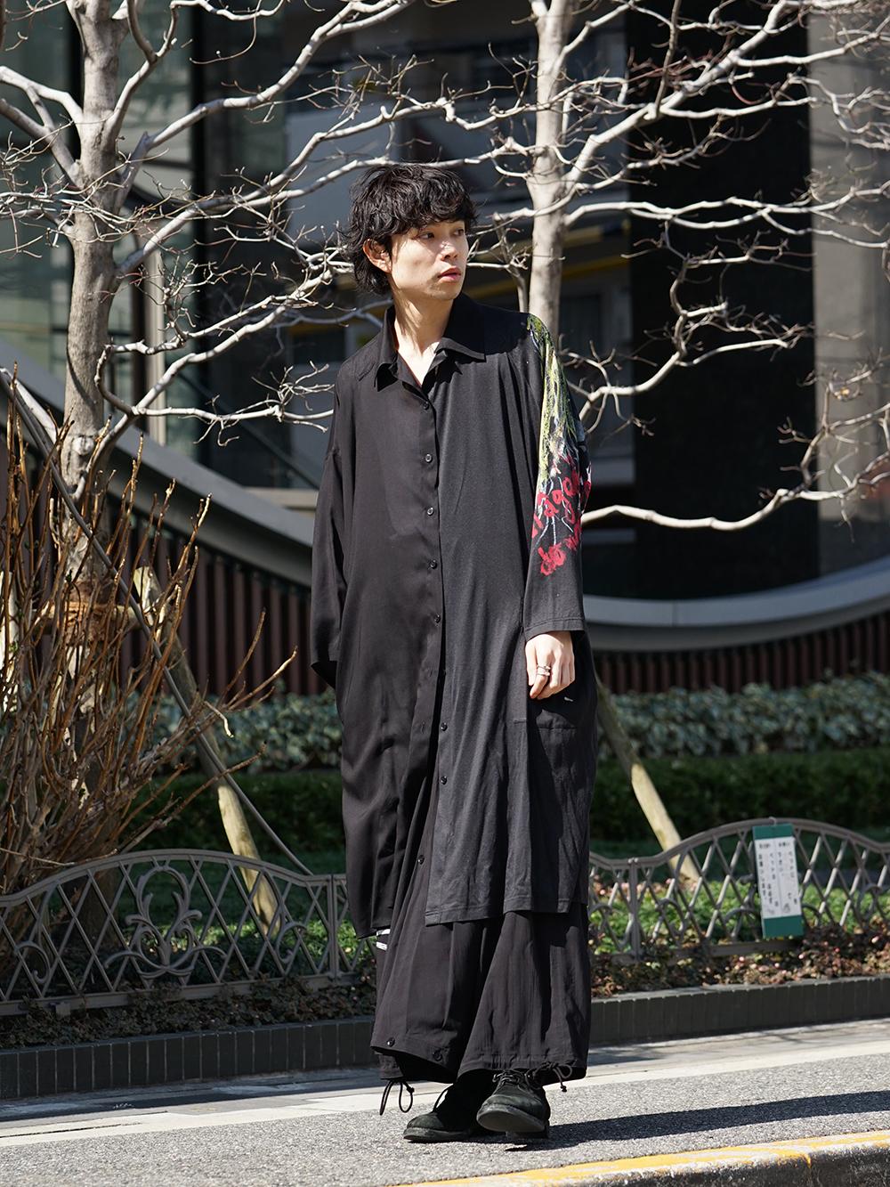B Yohji Yamamoto 19SS BLACK SCANDAL Print Item Style-001