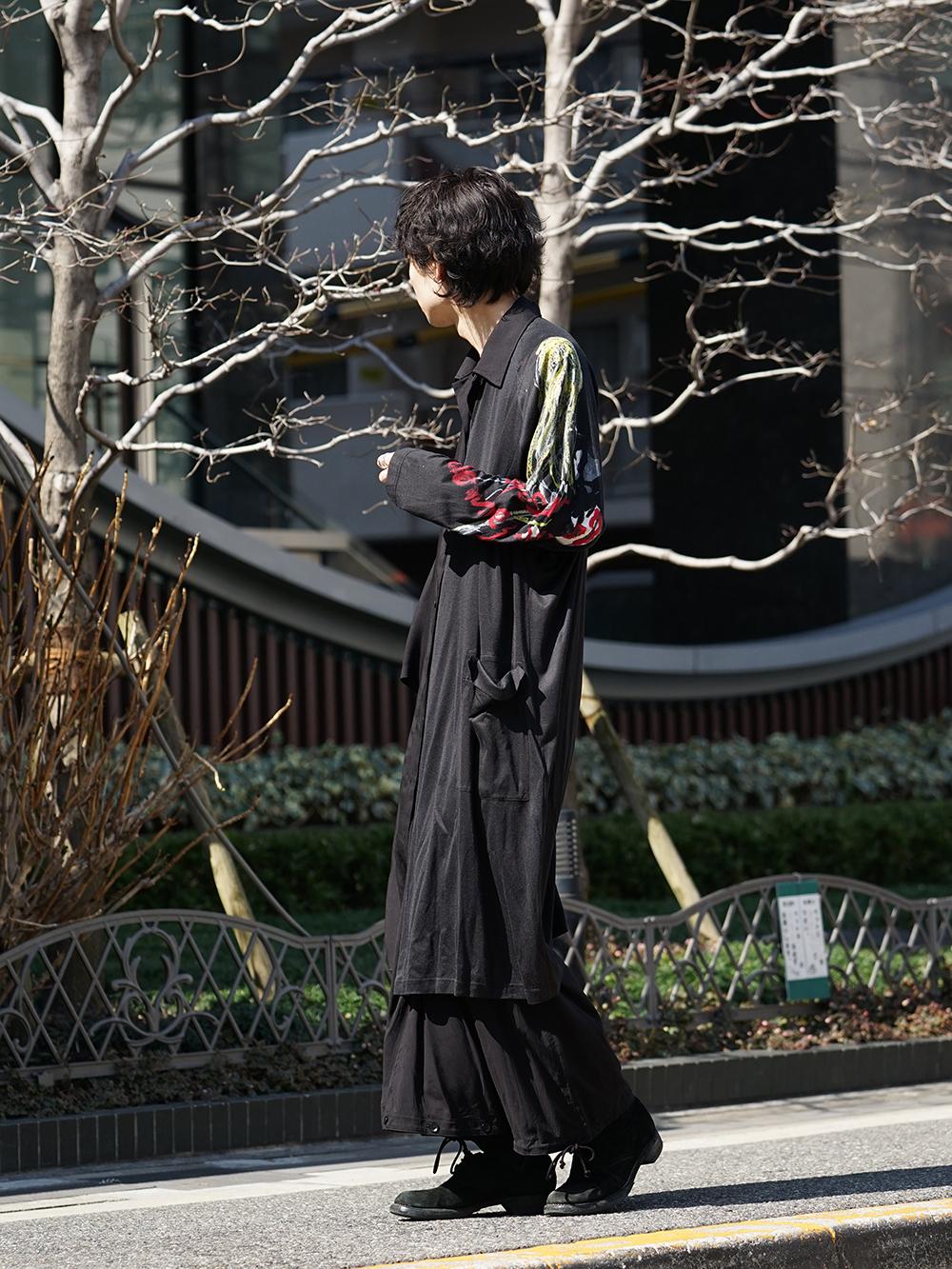 B Yohji Yamamoto 19SS BLACK SCANDAL Print Item Style-002