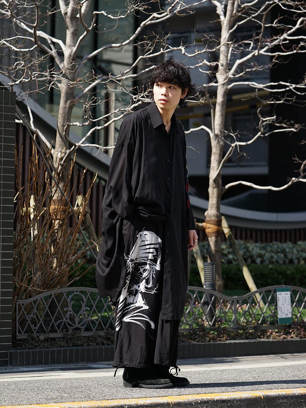 B Yohji Yamamoto 19SS BLACK SCANDAL Print Item Style-003