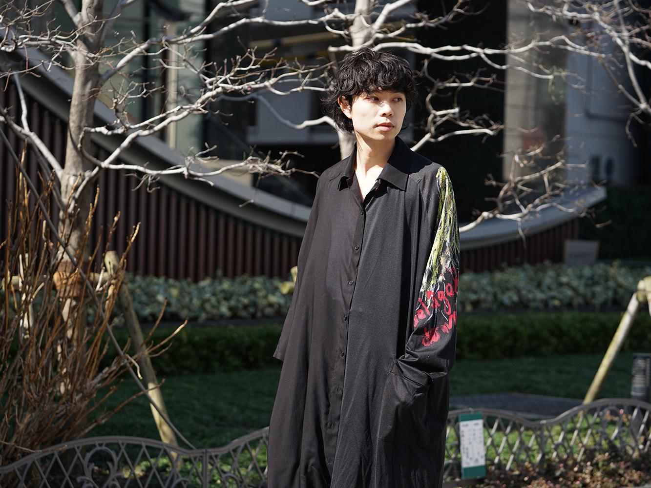 B Yohji Yamamoto 19SS BLACK SCANDAL Print Item Style-005