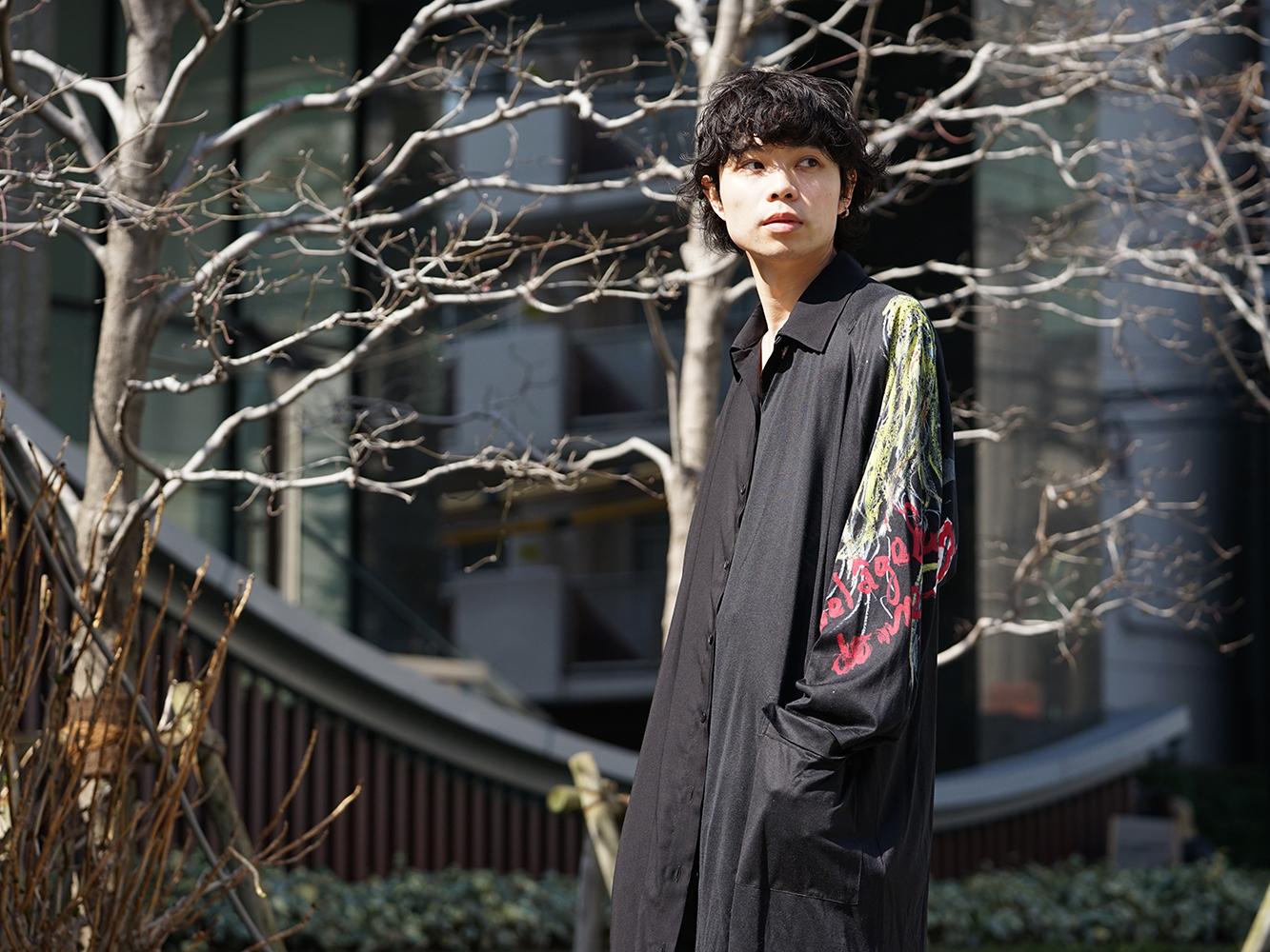 B Yohji Yamamoto 19SS BLACK SCANDAL Print Item Style-008