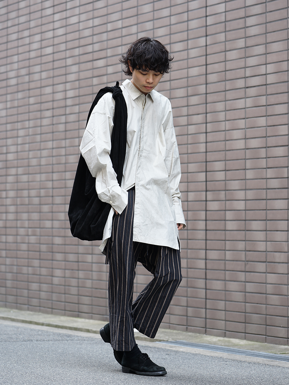 ZIGGY CHEN 19SS Striped Relax cropped pants Style-002
