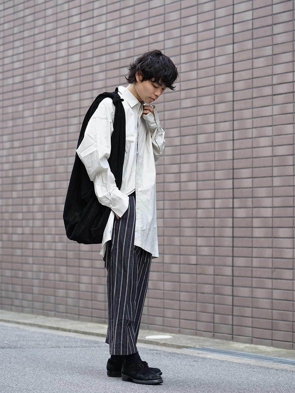 ZIGGY CHEN 19SS Striped Relax cropped pants Style-003