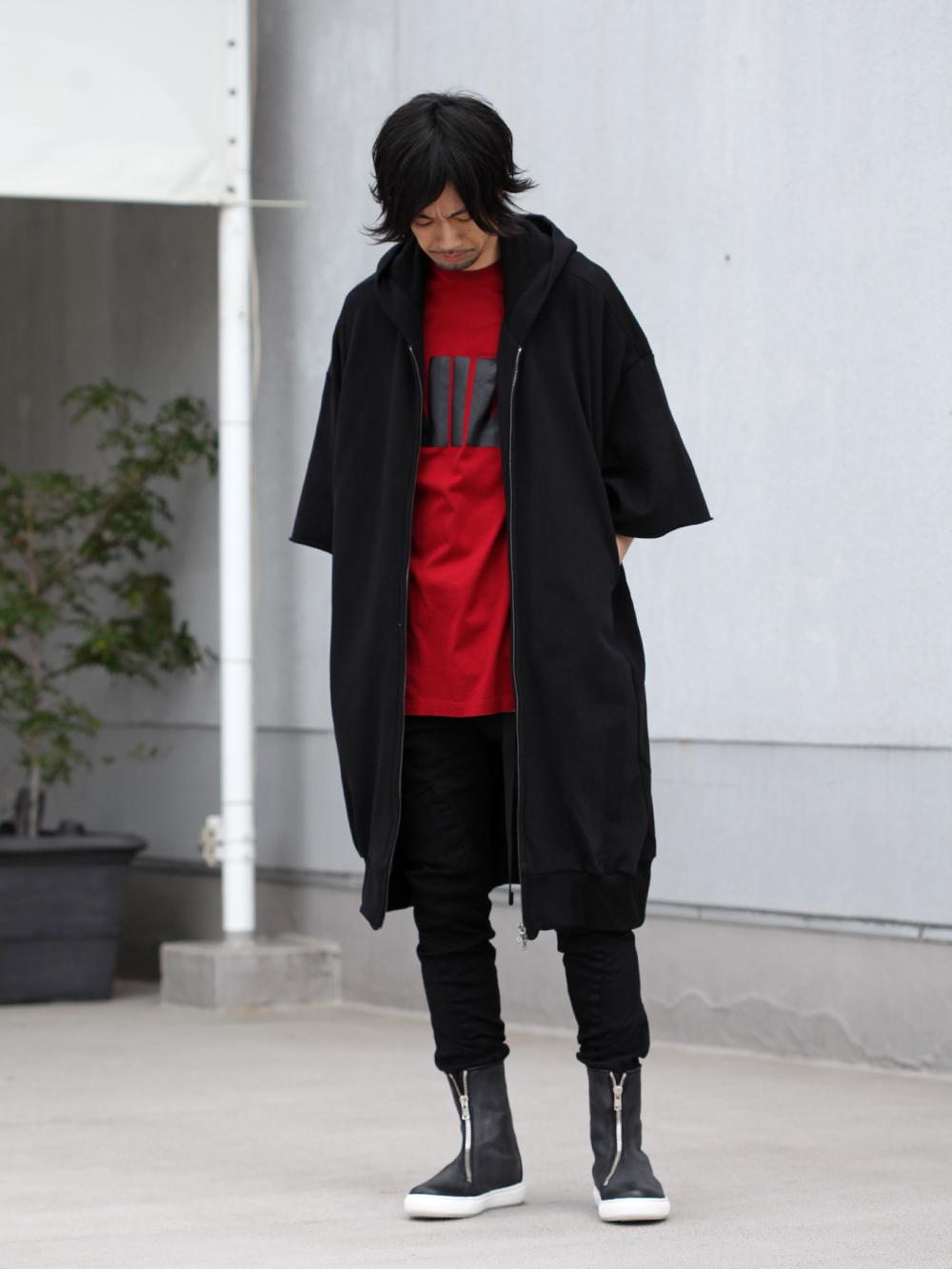 JULIUS 19SS Print Extra Big zip hoodie Style - 1-001
