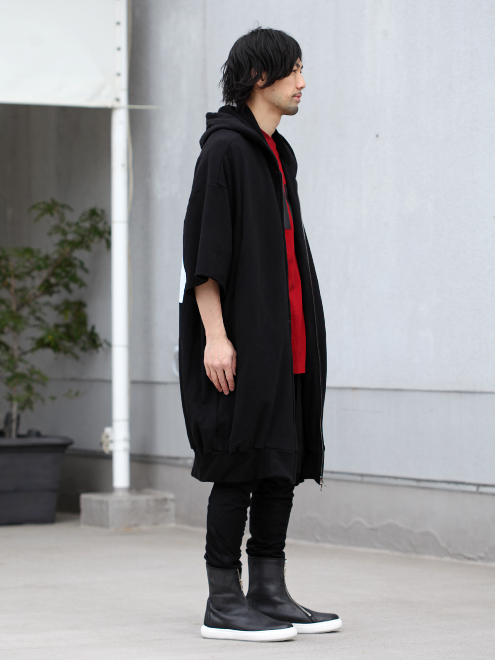 JULIUS 19SS Print Extra Big zip hoodie Style - 1-002