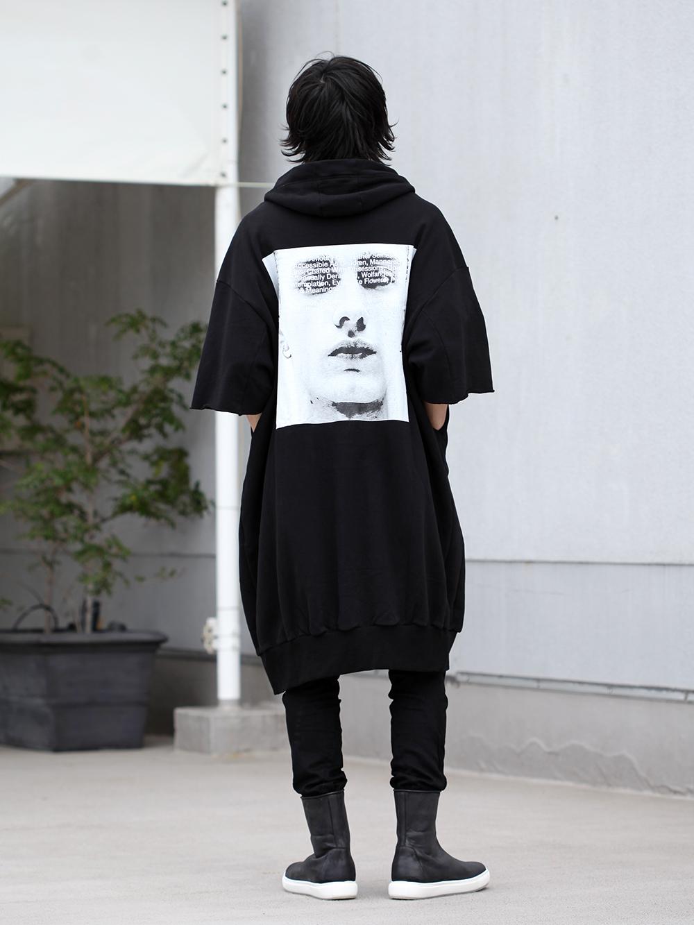 JULIUS 19SS Print Extra Big zip hoodie Style - 1-003