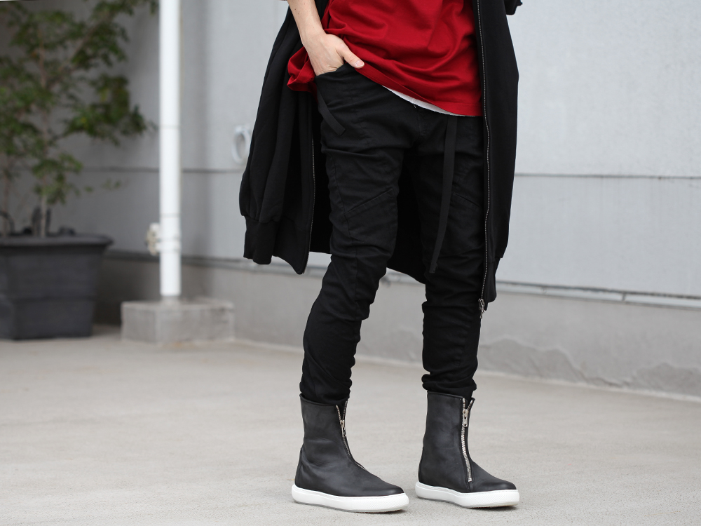 JULIUS 19SS Print Extra Big zip hoodie Style - 3-002