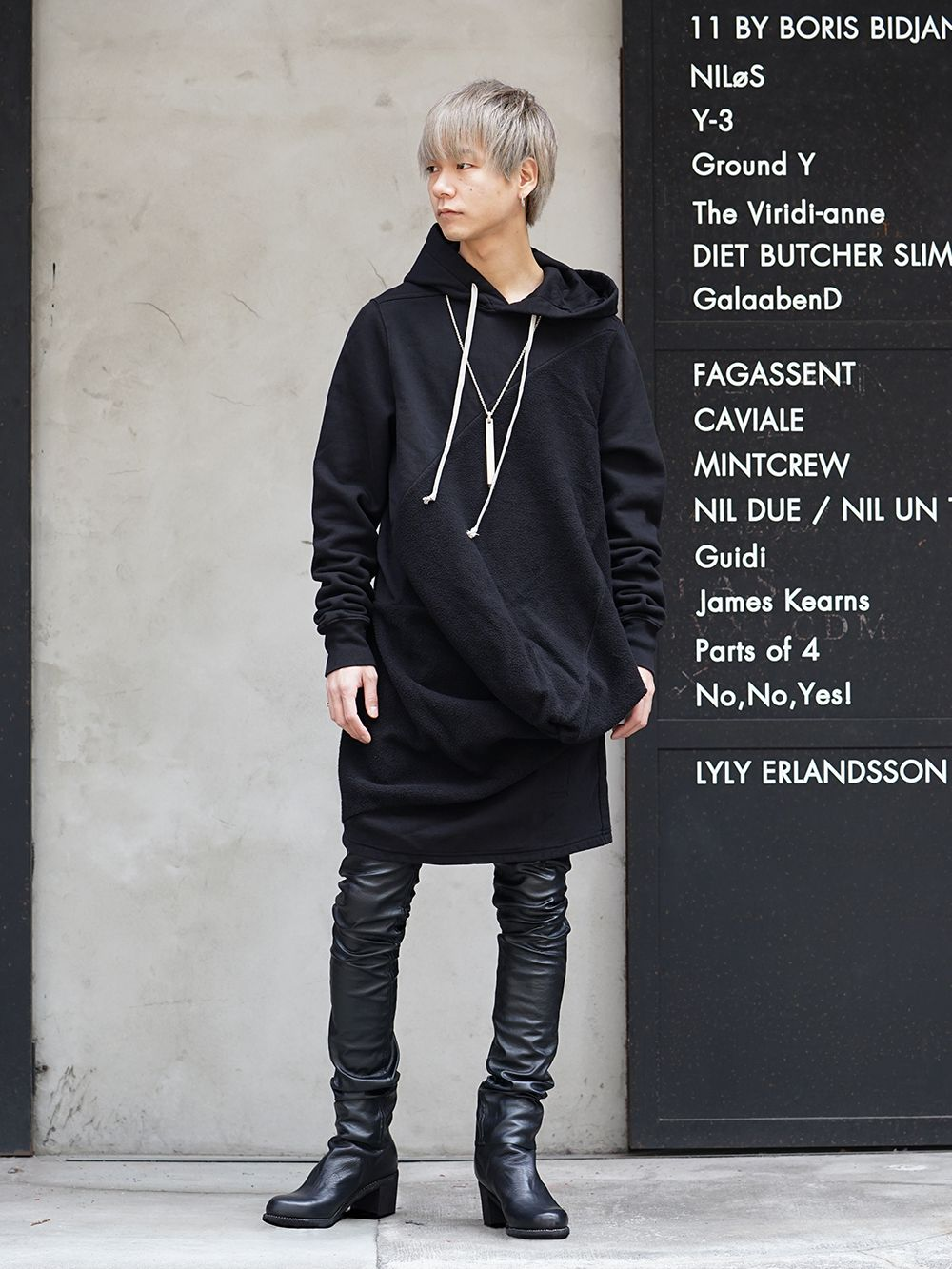 DRKSHDW x FAGASSENT 19SS Black elegant Style - 1-001