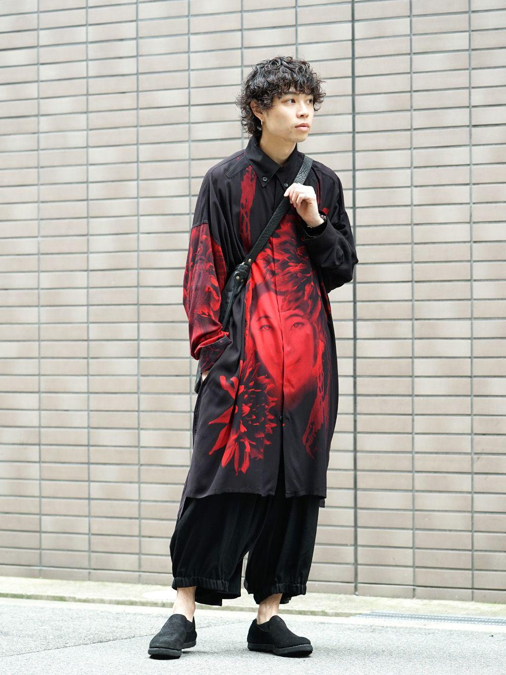 Yohji Yamamoto 19SS Red Print Blouse Style - 1-001