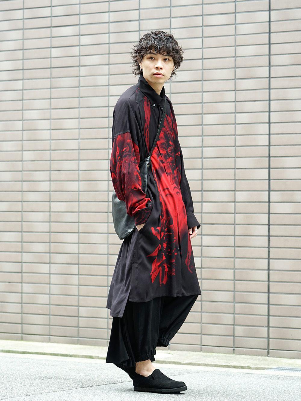 Yohji Yamamoto 19SS Red Print Blouse Style - 1-003